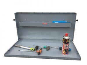 Mesa auxiliar plegable para furgonetas, remolque y talleres