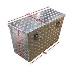 Cajón para remolque de aluminio
