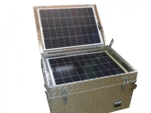 Caja de aluminio con equipo autonomo