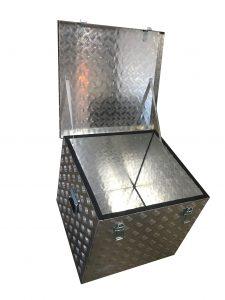 caja de aluminio