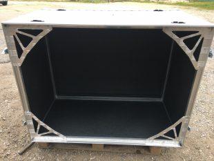 caja de aluminio con dos tapas de apertura lateral